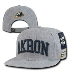 Heather gray university #akron ua zips ncaa flat bill #snapback #baseball cap hat,  View more on the LINK: 	http://www.zeppy.io/product/gb/2/401075744573/