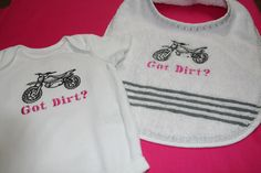 GIRL RACING ThEMED ONESIE Embroidered Motocross by CupcakesCottage, $13.99