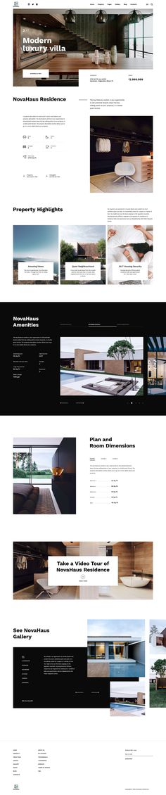 NovaHaus - Real Estate designed by Veaceslav Vlad. Connect with them on Dribbble; Real Estate Website Design, Interior Design Website, Website Design Layout, Web Layout, Layout Design, Website Designs, Web Design Projects, Web Ui Design, Ui Design Inspiration