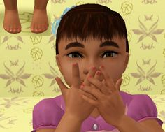 Mod The Sims - REDUX: Painted Nails for the Kiddies Nail Polish sims 3 nail polish Navy Nail Polish, Color Change Nail Polish, Navy Nails, Metallic Nail Polish, Vegan Nail Polish, Sims 4 Nails, Sims 3 Games, Sims 3 Mods