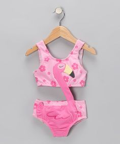 Pink Flamingo Sunsuit - Toddler & Girls by Le Top on #zulily today!