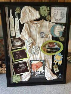 Infant Shadow Box ~ KitchenCraftyFun.com