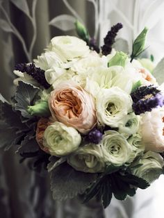 I love with this gorgeous muted tone bouquet shot by A. Payetta Photography!
