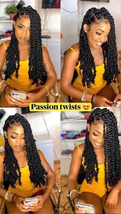 Lemonade Braids Hairstyles, Box Braids Hairstyles For Black Women, Braids For Black Hair, Braids Hairstyles Pictures, Faux Locs Hairstyles, Natural Hair Braids, Braids With Curls, Twist Braid Hairstyles, African Braids Hairstyles