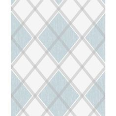 Superfresco - Argyle Blue Wallpaper - 20-552 - Home Depot Canada
