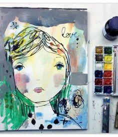 #artjournal page by Juliette Crane