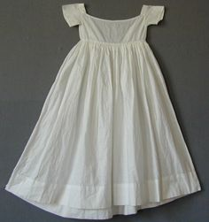 Girl's Underdress c 1790 - white cotton, empire line | English Costume | Meg Andrews - Antique Costumes and Textiles