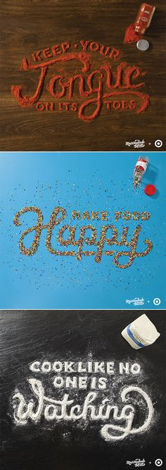 food typography by Danielle Evans for Target @Annie Compean Compean Compean Compean Compean Compean Tyner this reminds me of you