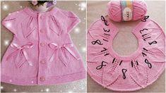 Knitting For Kids, Crochet For Kids, Baby Knitting Patterns, Crochet Baby, Hand Knitting, Girls Knitted Dress, Knit Dress, Baby Toys, Knit Vest Pattern