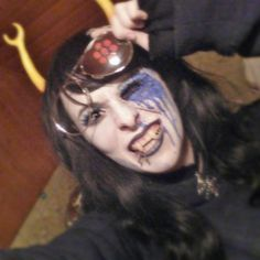 do you really think you can beat me 8itch???????? id like to see you try. :::;) ------------------ #vriska#serket#vriskaserket#vriskacosplay#homestuckcosplay#homestuck#cosplay#makeup#facepaint#gore#horror#cosplaymakeup