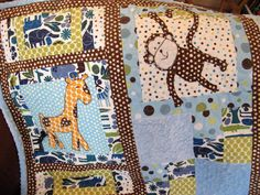 Made To Order Baby Boy Zoo Animals Quilt by aQuiltforBaby on Etsy, $195.00