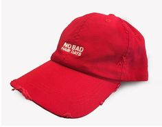 "Stay posi, friends. Only good hair days ahead! This new red version of our hat has ""NO BAD HAIR DAYS"" embroidered on the front with G.D.Y. on the back. It also includes a ""Rock Lobster"" G.D.Y. enamel pin. The hat features an abrasion bill and crown for that true, worn-in feel and velcro adjustable closure to fit most."