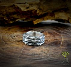 Tree bark ring de Dcastjoyas en Etsy