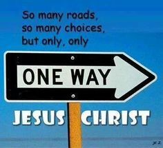 One Way with Jesus!  Forever!   Aline ♥