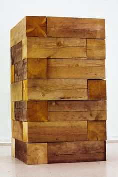 Carl's Life Size Jenga Game.  Ha ha ha... Imagine when it falls lol... .