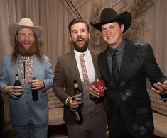 Cheesin' for the weekend with Brothers Osborne and Jon Pardi! Brothers Osborne, Jon Pardi, Cowboy Hats, Fashion, Moda, Fashion Styles, Fashion Illustrations