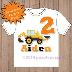 Construction Birthday Shirt Custom Boys Birthday by PurplePossom, $16.00