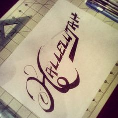 Sometimes all you need to say is #Hallelujah. #dpcreates #typography #design #draw #handmade #DaroldPinnock #inking #lettering #thankful #drawing