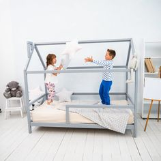 House Frame Bed, Bed Frame, Toddler House Bed, Twin Toddlers, Toddler Furniture, Kid Beds, Trending Outfits, Etsy, Home Decor