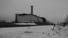 2 February 2011 Inside the Chernobyl Nuclear Power Plant - The Chernobyl nuclear complex contained four reactors in total. The explosions on 26 April 1986 occurred in Reactor Number Four, at the end of the building closest to the camera.  All pictures by the BBC's Steven Duke.