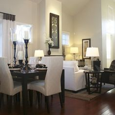 Living Room Ideas, Georgeous Small Living Room Dining Room Combo ...