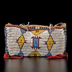 Sioux Child's Beaded Possible Bag