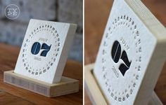 TYPE is a letterpress calendar that sits on your desk in an eco-friendly bamboo stand.