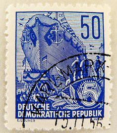 "beautiful stamp Briefmarke DDR GDR 50 pf. timbre selo sellos postage Eastern Germany ""Fünfjahrplan"" 50 Pfennig francopolli Germany porto postage"