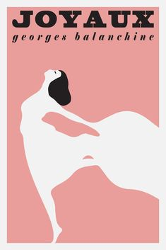 Joyaux - Ballet Poster French Print Vintage Retro Printed Pink Poster Wall Art Home Decor Seller Poster Fonts, Poster Wall, Vintage French Posters, Retro Vintage, Ballet Posters, Ballet Studio, George Balanchine, Pink Wall Art, Ballet Photography