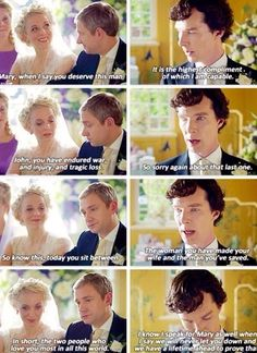 Me at the beginning: Shut up shutup SHUT UP SHERLOCK YOU'RE RUINING THE WEDDING.  Me at the end: *Bawling* keep talking, don't stop. :'D