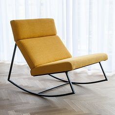 Buy GT Rocker from Gus Modern. The Gus Modern GT Rocker is the perfect modern rocking chair. Sleek and simple with a steel base and cushions inspired by. Cool Furniture, Modern Furniture, Furniture Design, Furniture Stores, Bedroom Furniture, Furniture Ideas, Furniture Companies, Rustic Furniture, Office Furniture