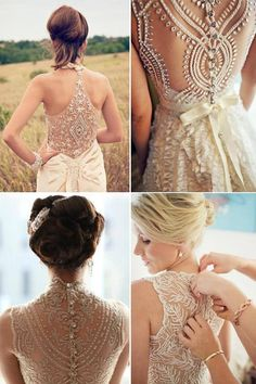A detailed back is a great way to add personality, without losing the elegant feel of a wedding dress!