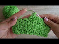 Crochet Jasmine Stitch (New) - Design Peak - Diy Crafts Crochet Star Patterns, Crochet Basket Pattern, Granny Square Crochet Pattern, Tunisian Crochet, Crochet Designs, Knitting Patterns, Crochet Triangle, Crochet Stars, Crochet Roses