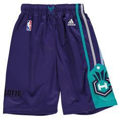 Youth Charlotte Hornets adidas Purple Swingman Shorts