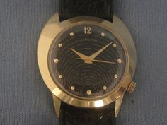 HAMILTON ELECTRIC WATCHES By Unwind In Time - Hamilton Electric Spectra 14K Gold Black Dial