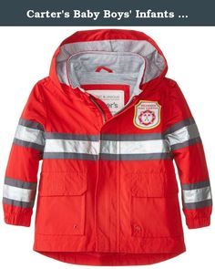 Carters Baby Boys Infants Lightweight Single Jacket, Red, 12 Months. Infant outerwear.