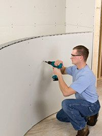 how to curve drywall