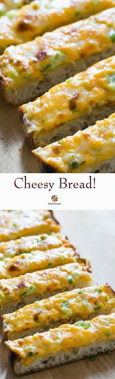 Art On Sun: Cheesy Bread ~ A cross between garlic bread and pizza, cheesy bread is a quick, easy, and delicious party snack. ~
