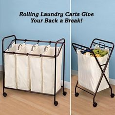 Rolling Laundry Hampers @ Fresh Finds