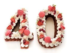 Number Birthday Cakes, Number Cakes, 40th Birthday Gifts, Birthday Cakes For Women, Girl Birthday, Birthday Cake Alternatives, 40th Cake, Beautiful Birthday Cakes, Cake & Co