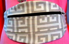 Hip Bag Fanny Pack Bum Bag in Geometric Design for by ClemmieVs