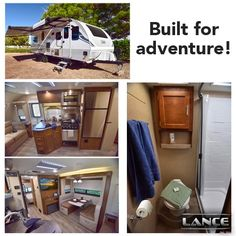 The Lance 2465 Travel Trailer is perfect for any and all adventures you have planned! Lance Campers, Toy Hauler, Truck Camper, Travel Trailers, Design Your Own, Shed, Floor Plans, Trucks, Outdoor Structures