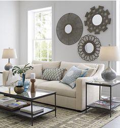 My new sofa: Verona- Crate and Barrel- Canvas color-  Love this sofa
