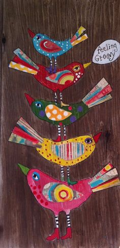 Feeling Groovy Birds Wall Decor by evesjulia12 on Etsy, $48.00