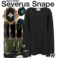 Harry Potter by wearwhatyouwatch on Polyvore featuring Mode, Lavish Alice, JuJu, Kara Ross, Balmain, Vintage, wearwhatyouwatch and film