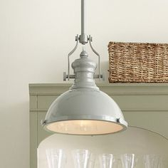 I love this style light, but have always thouhgt the oil rubbed bronze or polished chrome would show too much dust.  This is perfect. Harriet Pendant Enamel Gloss