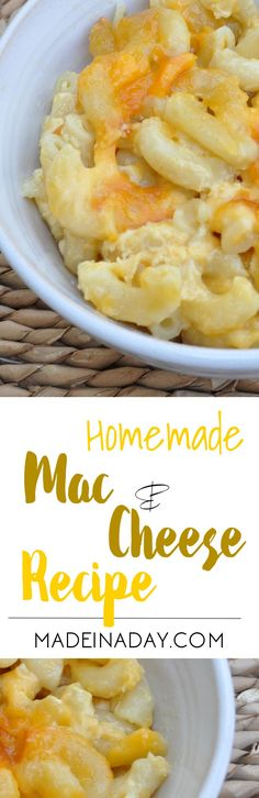 Homemade Macaroni and Cheese, Our favorite southern side dish for ll occasions. Baked with two different cheeses.  via @madeinaday