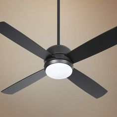 Easily control this flat black finished Craftmade ceiling fan with the included hand held remote control configuration. Four flat blades. Style # at Lamps Plus. Kitchen Lighting Fixtures Ceiling, Lamps Plus, Black Ceiling, Fan Light, Black Kitchens, Black Ceiling Fan, Portable Air Conditioner, Modern Ceiling, Kitchen Fan