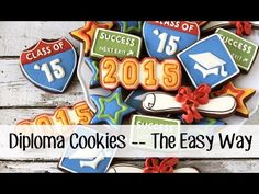 How To Make A Diploma Cookie -- The Easy Way