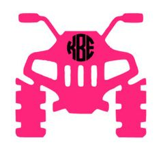 Due to the custom design, this decal is only available in Circle monogram font. This listing includes the following: 1 – Four Wheeler